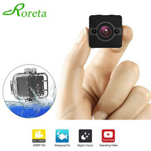 Roreta SQ12 Mini Camera HD 1080P Waterproof Wide-angle Lens Camcorder Sport DVR Infrared Night Vision micro cam small Camera(China)