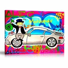 Ák Monopolys ama mi Porsche Rosa HD pared arte lienzo póster impresión pintura decorativa de lienzo para la Oficina sala de estar decoración del hogar
