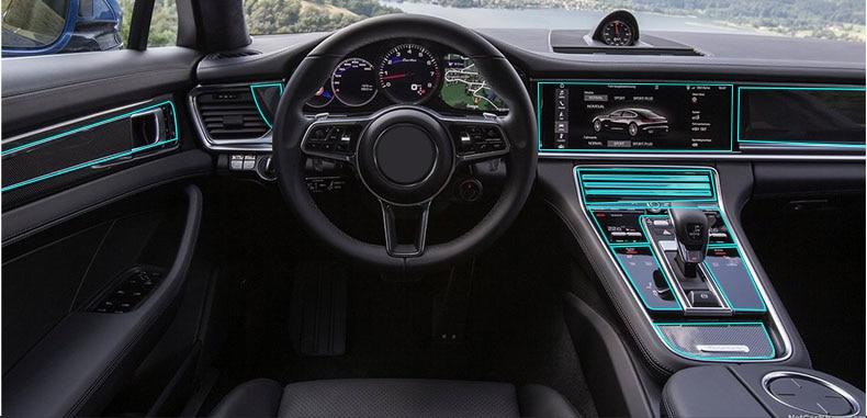 Lsrtw2017 transparten TPU interior do carro anti-scratch