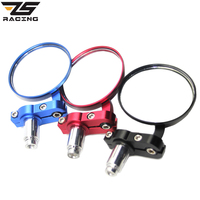 ZS Racing Universal CNC Aluminum Alloy 7 8 Motorcycle EV Bicycle Retro Folding Handlebar Round Rearview