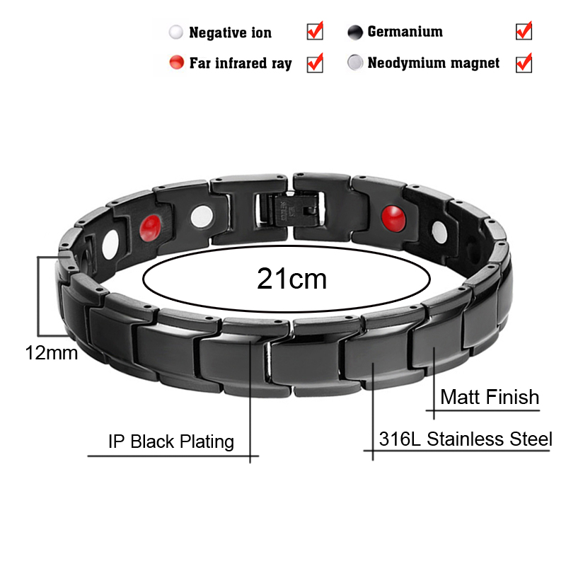 Drop-Shipping Health Germanium Magnetic Bracelets Bangles 1