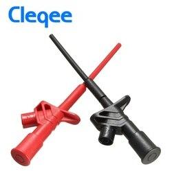 Cleqee P5004 2 sztuk profesjonalne izolowane szybkie Test Hook klip wysokiego napięcia elastyczne testowanie sondy