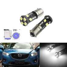ANGRONG 1 Pair H6W BAX9 8 SMD Xenon White LED Sidelight Canbus Bulbs For Alfa Romeo 147 Gt 156 166