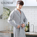 2017 new arrival fashion cloth 100%cotton men sleeping  robes geometric printed comfortable and fashion rober free shipping