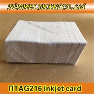 Image 5 - קניות חינם 100 pcs/500 pcs 13.56 Mhz הזרקת דיו להדפסה PVC IC כרטיס nfc 215 כרטיס עבור Tagmo עבור espon מדפסת, canon מדפסת