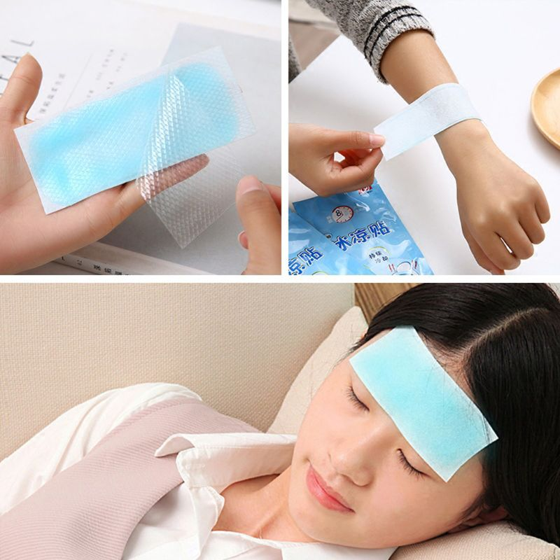 Adult Health Care Cooling Gel Patch Medical Fever Pad Herbal Pain Relief Paste