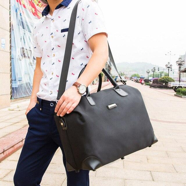 2017 Прочный дорожная сумка Большой емкости мужские Дорожные Сумки Портативный Мешок оксфорд Плечо Большие Мешки