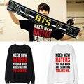 KPOP BTS Bangtan Мальчики Балахон Толстовка Jumper Пуловер Jungkook Sweatershirt Мужская Новый Рэп Монстр Пуловеры
