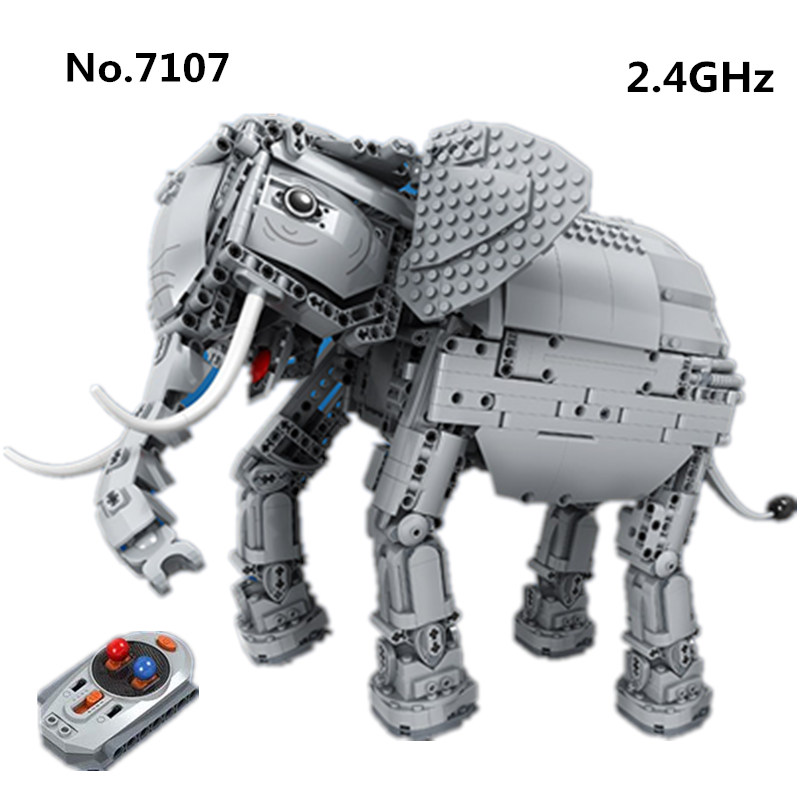 Winner 7107 1542pcs RC Remote Control Elephant Creative Animal Electric Compatible with Legoed Building Blocks Toys For ChildrenWinner 7107 1542pcs RC Remote Control Elephant Creative Animal Electric Compatible with Legoed Building Blocks Toys For Children