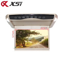 XST 10.1 Inch 1024*600 Car Monitor Roof Mount LCD Color Flip Down Screen Overhead Multimedia Video Ceiling Roof mount Display