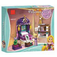 Bela princesa menina 25017 rapunzel castelo quarto blocos de construção brinquedos para menina presente amigos 41156