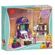 Lepin Princess Girl 25017 Rapunzel Castle Bedroom Building Blocks Toys For Girl gift LegoINGly Friends 41156