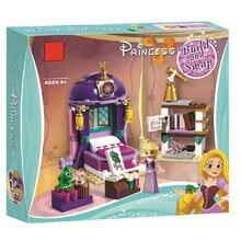 Lepinblocks princesa menina 25017 rapunzel castelo quarto blocos de construção brinquedos para o presente da menina princesa 41156