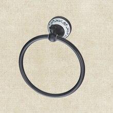 Ванная комната масло втирают Черный Бронзовый B5132 Solider латунь Ванная комната аксессуар Комплектующие Ванны Полотенца кольцо стойки Кольца для полотенец