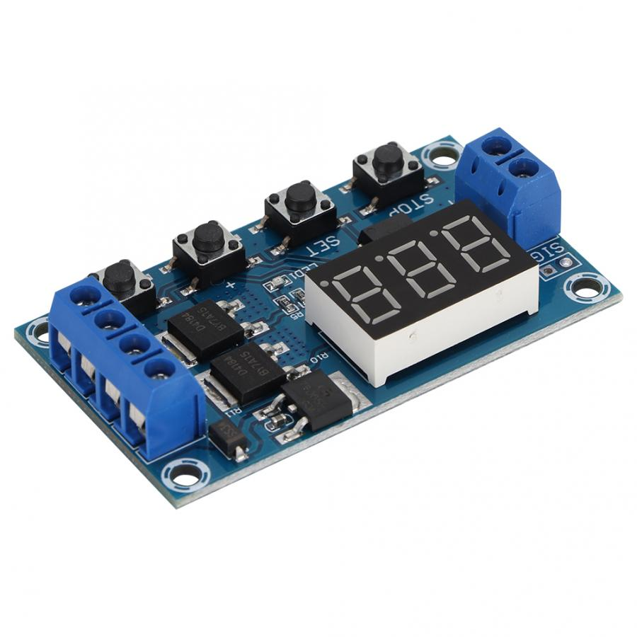 12V Trigger Cycle Delay Timer Switch Turn On/Off Relay Module with LED Display Timer Switch Module(China)