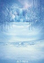 Crianças da neve do inverno Cachoeira Congelada Cai 5X7ft Fundos Estúdio de Fotografia Adereços Fotografia Vinil Cenários de Fotografia Pano