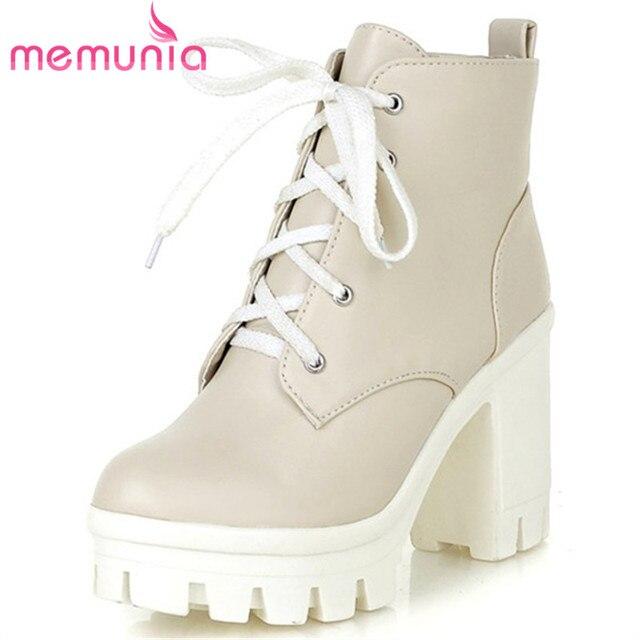 8e12eae49 MEMUNIA 2018 New Fashion sexy women's ankle boots high heels Punk platform  Women autumn boots ladies