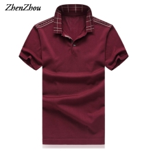 ZhenZhou Top Quality M 6XL 3 Colors 2017 Summer Mens Polo Shirts Brands Short Sleeve Polo