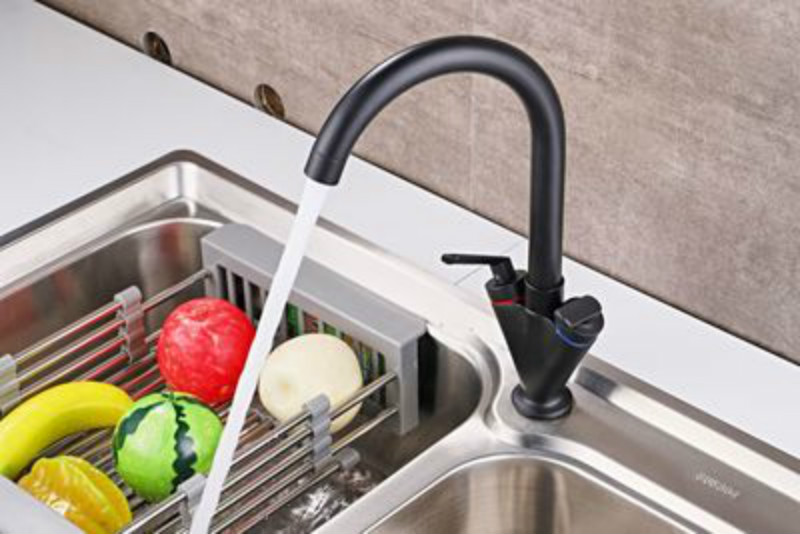 Kitchen Faucet 360 Degree Rotation Rule Shape Curved Outlet Pipe Tap Basin Plumbing Hardware Sink Faucet siyah mutfak muslukKitchen Faucet 360 Degree Rotation Rule Shape Curved Outlet Pipe Tap Basin Plumbing Hardware Sink Faucet siyah mutfak musluk