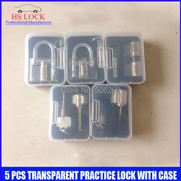 Practice Lock set  for Beginners, Practice Cylinder, Transparent, Clear 5 pcs locksmith practice tools with Case мужская цепь магия золота золотая цепочка mg26035 65