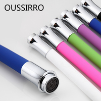 Flexible Shower Hose Stainless Steel Silicone Tube Flexible Hose All Direction For Kitchen Faucet 6 Colors