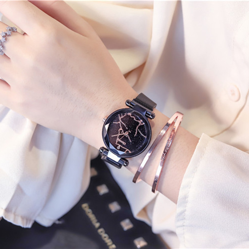 2019 Fashion women watches luxury purple ladies creative quartz clock magnet mesh waterproof female wristwatch relogio feminino in Women 39 s Watches from Watches