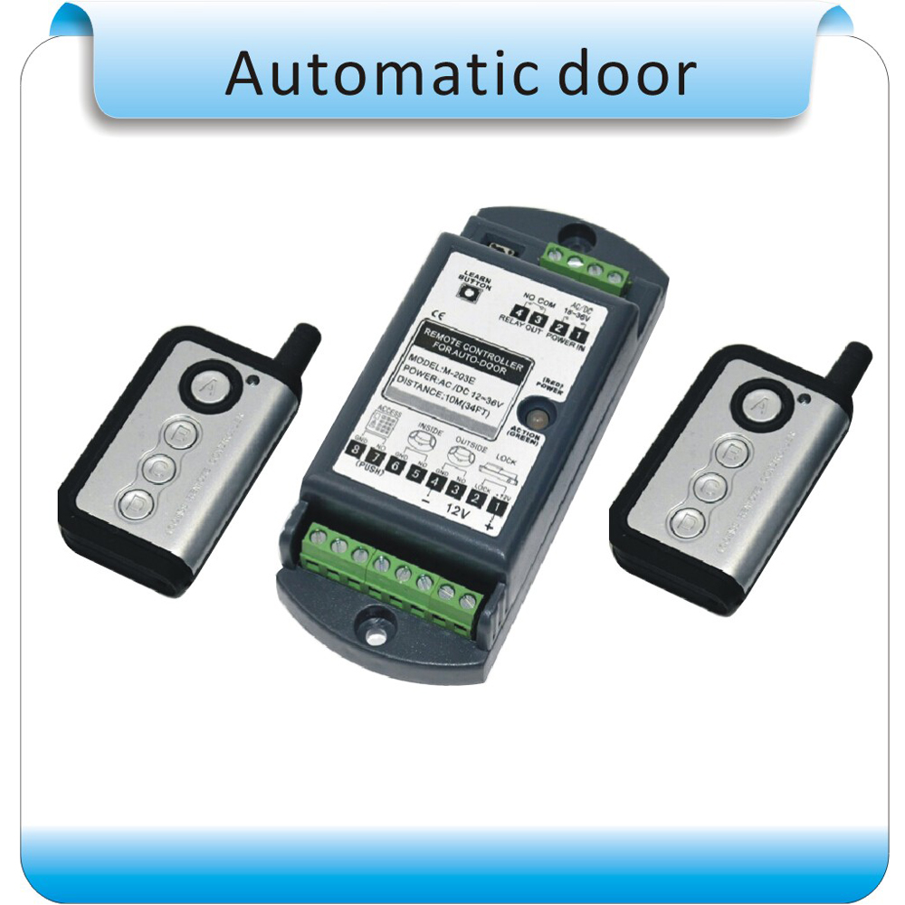 Free shipping 2pcs remote Learning code automatic door controller with remote controller 12-36VDC/AC free shipping 2pcs remote learning code automatic door controller with remote controller 12 36vdc ac