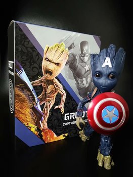 Marvel Guardians of The Galaxy Avengers Tree Man as Captain America BJD Action Figure Model Toys