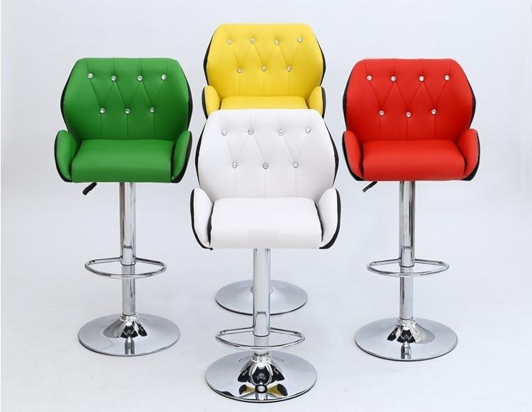 Pu Stuhl Grün Gelb Bar Rot Hocker Kostenloser Farbe Weiß Versand 5Lcj43AqR