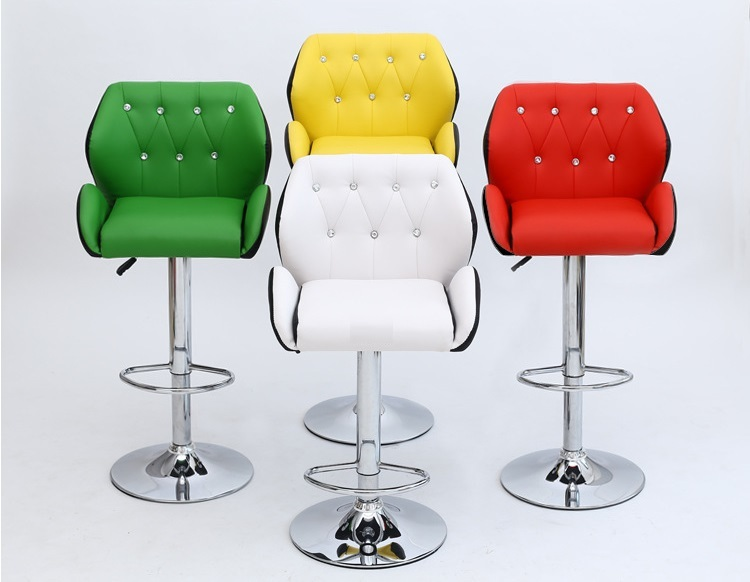 bar chair yellow green white red color stool free shipping PU leather seat retail wholesale bar chair yellow red blue green white stool free shipping