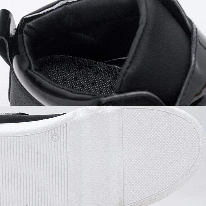 Lona Black Alta Zapatos Hombre white Para De Invierno Calzado Moda Caliente Botas Hombres Los 2018 Cuero Otoño Casuales Uxq6wa5O