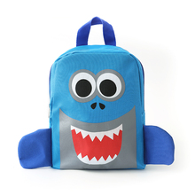 Under Nineteen 2019 New childrens backpack cute cartoon blue shark children school bags for boys girls toddler kids