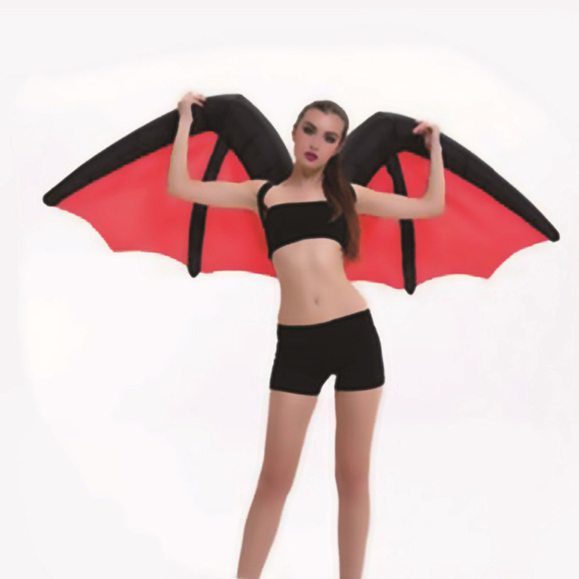 Inflatable Angel Wings Costume Colorful Butterfly Bat Wings Cosplay Clothing Christmas Party New Year Gift Fancy Funny Suits New