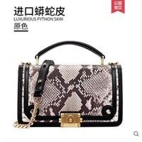 gete 2019 new New python women's bag genuine leather fashion small fragrant wind chain bag female snake bag single shoulder bag