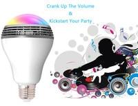 KITOSUN E27 Bluethooth Smart LED Bulb Speaker Smart LED Light Bulb Audio Music Player Smartphone Wifi