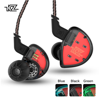 KZ ES4 In Ear Monitors Armature And Dynamic Hybrid Headset Ear Earphone Earbuds HiFi Bass Noise Cancelling Ear Hooks Headphones