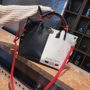 Image 5 - กระเป๋าถือผู้หญิงกระเป๋าแฟชั่นผู้หญิงกระเป๋าหนัง PU กระเป๋าสุภาพสตรีออกแบบ Patchwork กระเป๋าถือหญิง Casual กระเป๋าสะพายขนาดใหญ่