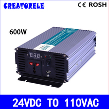 P600-241 600w  pure sine wave pwoer inverter 24vdc 120vac power inverter, voltage converter,solar inverter