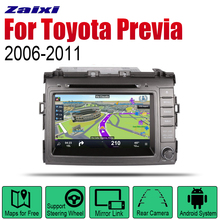 ZaiXi Android 2 Din Auto Radio DVD For Toyota Previa 2006~2011 Car Multimedia Player GPS Navigation System Radio Stereo 2 din car multimedia player android auto radio for mini countryman r60 dvd gps 8 cores car radio stereo gps navigation original