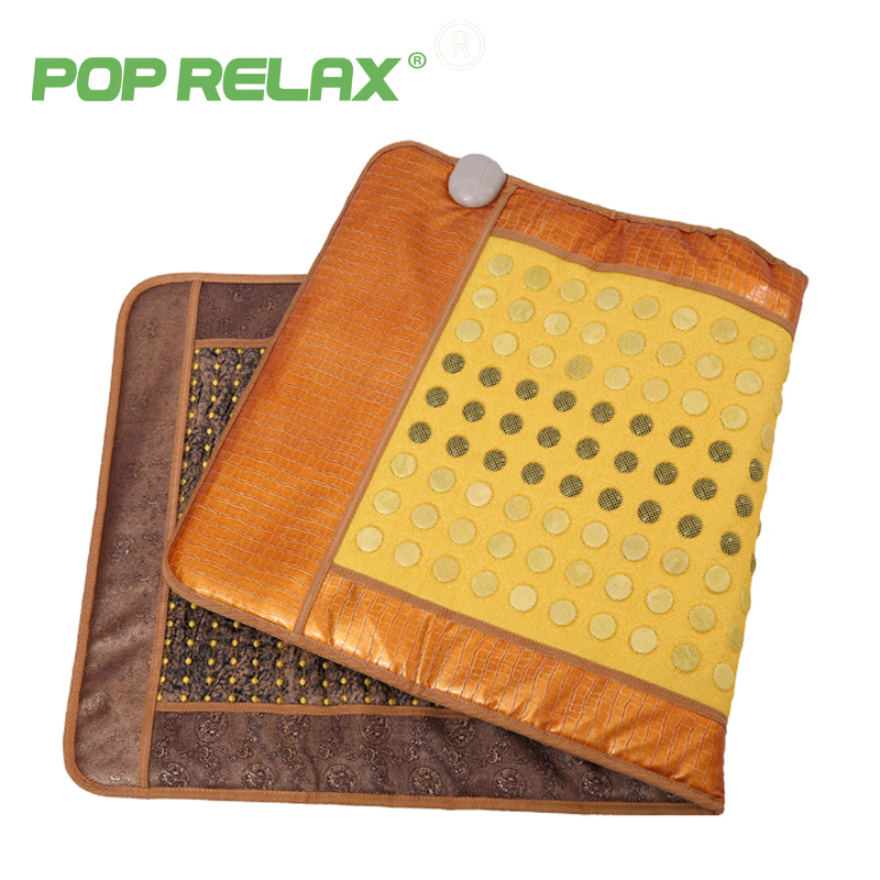 POP RELAX health mattress electric massage mat 2 sides heating physiotherapy body pain relief tourmaline jade AB moxa masaje mat 2016 new heating massage mat with stones jade health products 50cmx150cm
