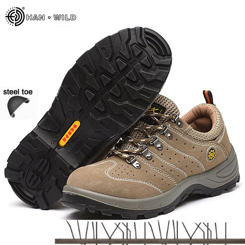Men Steel Toe Cap Shoe 2018 Spring Leather Breathable Labor Insurance Puncture Proof Casual Boots Mens Safety Work Shoes free shipping men color steel toe cap work safety shoes mesh casual breathable hiking boots puncture proof protection footware