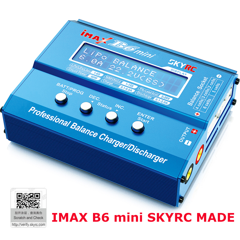 SKYRC IMAX B6 mini Professional Balance Charger Discharger for RC Helicopter nimh nicd Aircraft Intelligent Battery