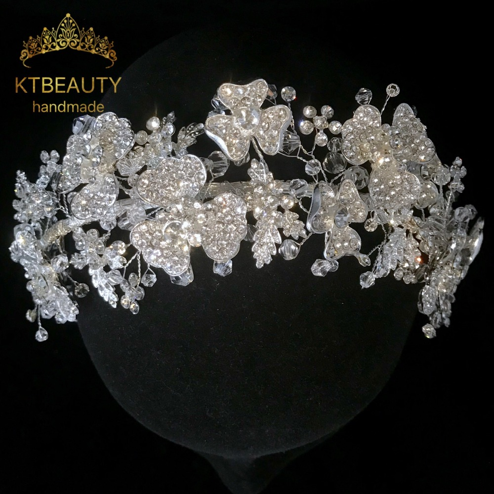 New Luxury Crystal Silver Golden Crown Tiara Bigger Custom Made Rhinestones Royal Queen Princess Pageant Party