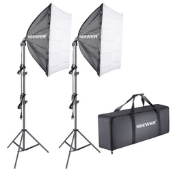 Neewer 700W 5500K Photography Studio Softbox Lighting Kit 24x24 inches Softbox Diffuser 5500K Continuous Light Bulb