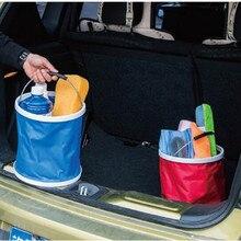 11L Folding Car Wash Bucket Outdoor Portable Retractable Washing Fishing Buckets Bucket Camping Folding Bucket Washing Basin