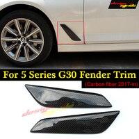 for BMW G30 Fender Car Front Side Air Vent Cover Trim 2 Pcs Carbon Fiber for BMW G30 520d 530i 530d 540i 525i Fender Trim 2017+