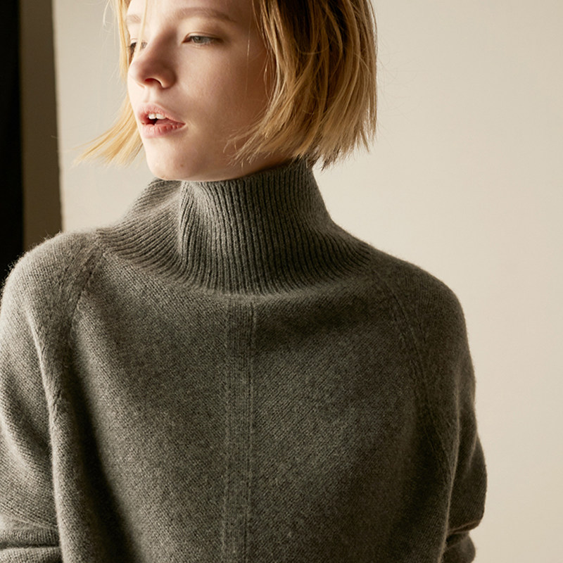 Smpevrg Selling Women Sweaters And Pullovers Long Sleeve High Collar Cashmere Sweater Women Pullovers Ladies Knitted 2018 Spring