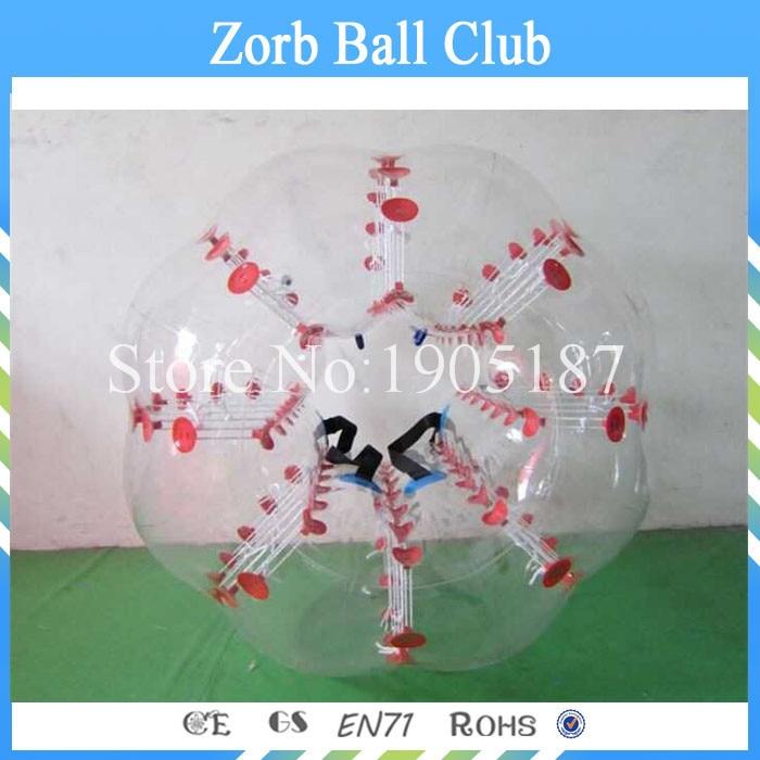 Envío gratis TPU burbuja fútbol 1.2 m rojo o azul, bola Loopy, - Deportes y aire libre - foto 4