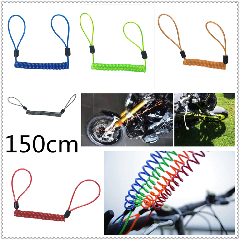 150cm Motorcycle Burglar Alarm Reminder Rope Spring Pull Wire For YAMAHA YZF R15 XT660 X R Z TMAX 500 530 TMAX500 530