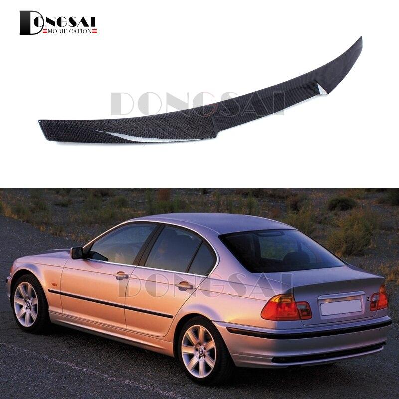 M4 Style Spoiler pour E46 4 portes berline en Fiber de carbone coffre aile lèvres pour BMW série 3 voiture Style Auto pièces
